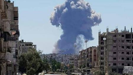 Μεγάλες εκρήξεις σε αεροδρόμιο στη Χάμα της Συρίας