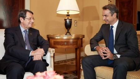 Κυπριακό και τουρκική προκλητικότητα στη συνάντηση Μητσοτάκη - Αναστασιάδη
