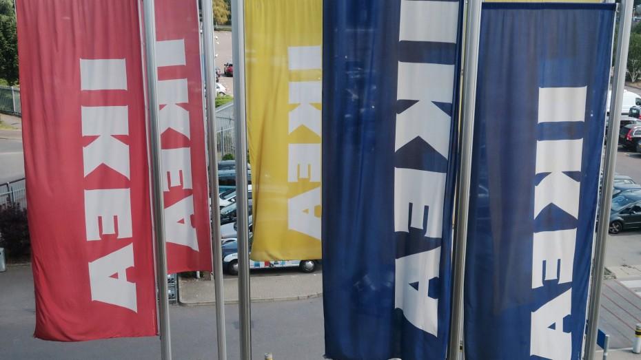 FILE PHOTO: A man walks into the Edmonton IKEA store in north London