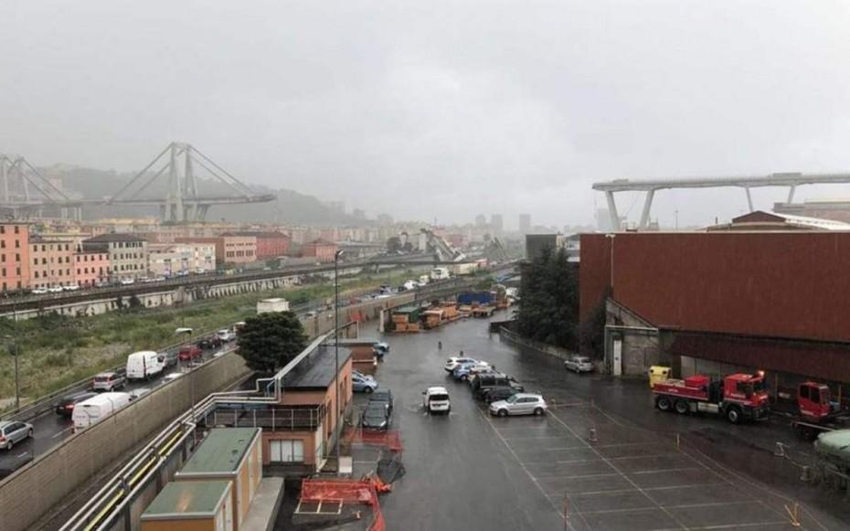 Κατάρρευση γέφυρας στη Γένοβα - Φόβοι για πολλά θύματα