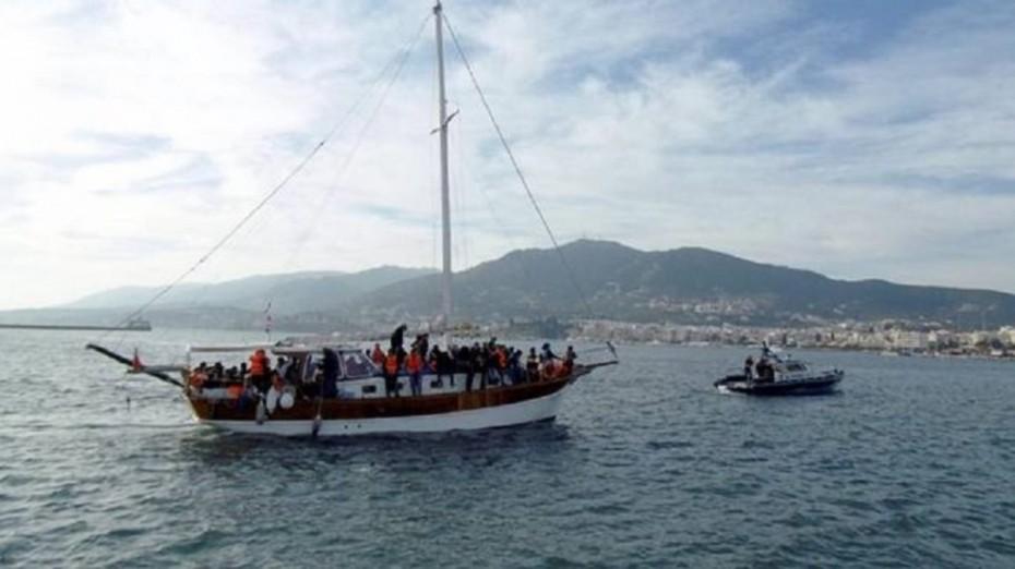 Διάσωση 73 προσφύγων-μεταναστών σε Λέρο και Σάμο