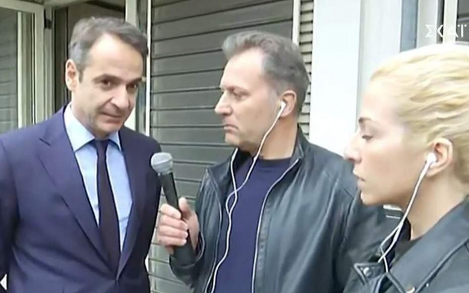 Στον ΣΚΑΙ ο Μητσοτάκης μετά την έκρηξη: «Η κυβέρνηση φέρει ευθύνες για το κλίμα ακραίας πόλωσης»