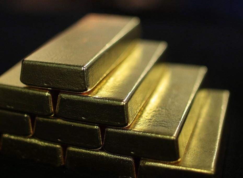 Συγκρατημένες απώλειες για τον χρυσό