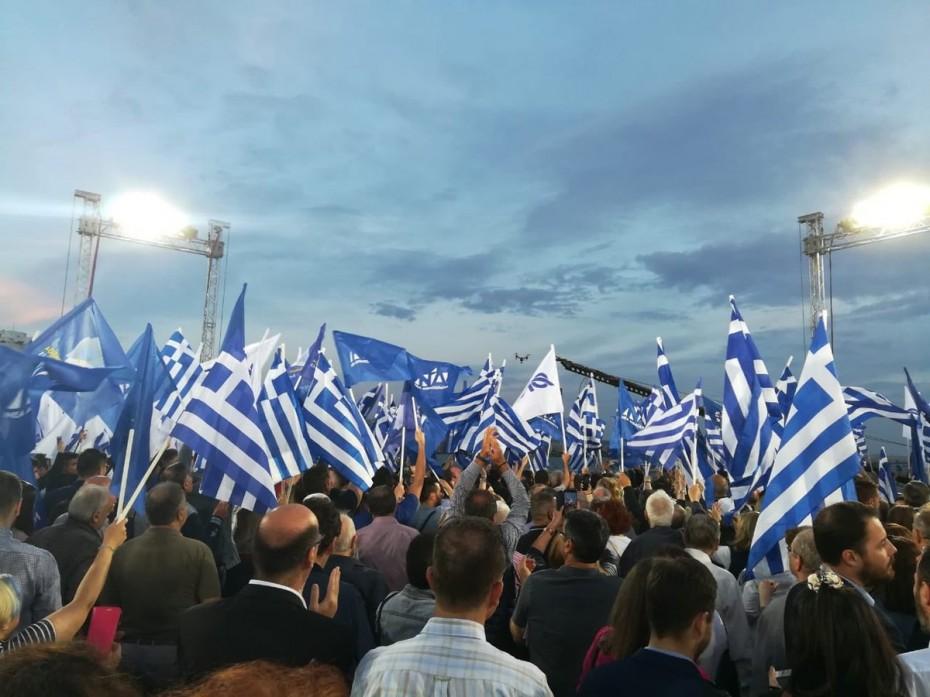 Μητσοτάκης από Θεσσαλονίκη: Η Ελλάδα θα γίνει μπλε το βράδυ της Κυριακής