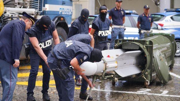 Κατέσχεσαν πύραυλο ακροδεξιάς οργάνωσης στην Ιταλία