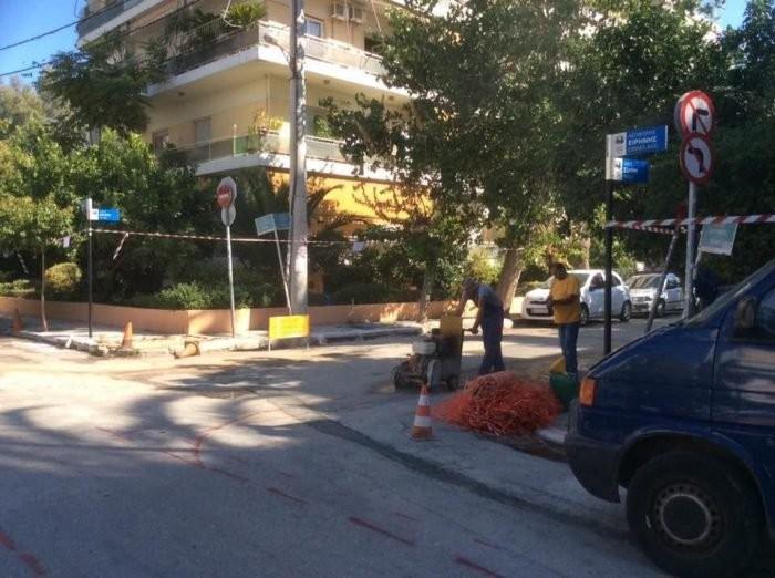 Ξεκίνησε η ανάπλαση της λεωφόρου Ειρήνης στο Νέο Φάληρο, από τον Δήμο Πειραιά