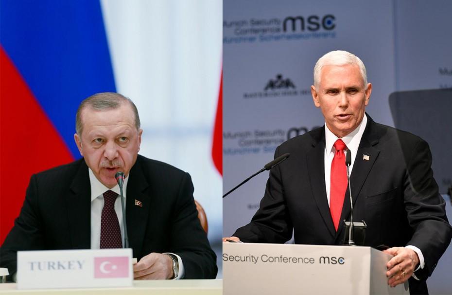 «Ήξεις, αφήξεις» από Ερντογάν για τη συνάντηση με τον αντιπρόεδρο και τον ΥΠΕΞ των ΗΠΑ