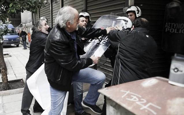 Θεσσαλονίκη: Επεισόδια σε διαμαρτυρία για πλειστηριασμό