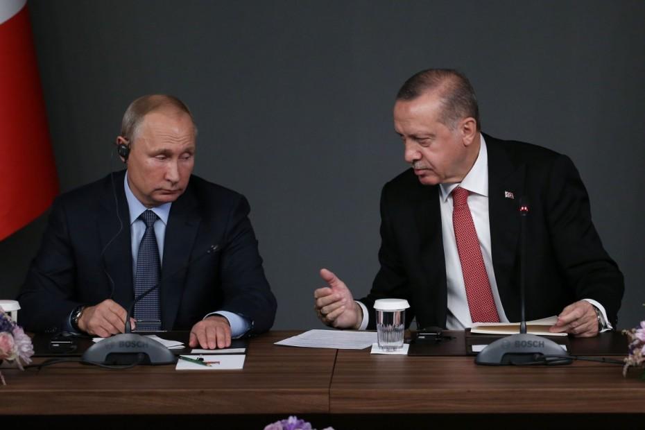 Ενημέρωση Ερντογάν σε Πούτιν για τη συμφωνία με τη Λιβύη