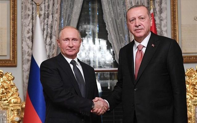 Τι ειπώθηκε στη συζήτηση Ερντογάν - Πούτιν για Συρία και Λιβύη