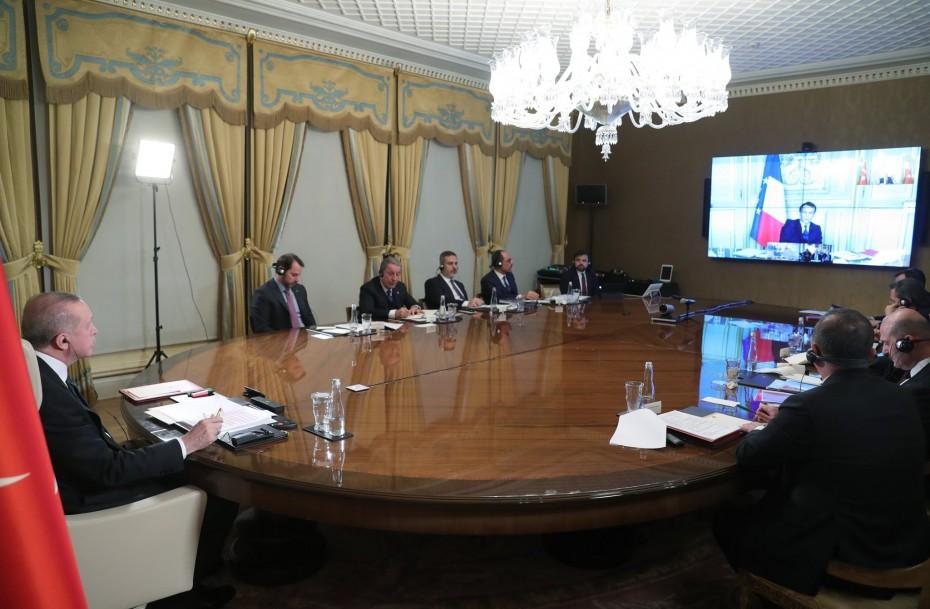 Ολοκληρώθηκε η τηλεδιάσκεψη Ερντογάν, Μέρκελ, Μακρόν και Τζόνσον για το μεταναστευτικό