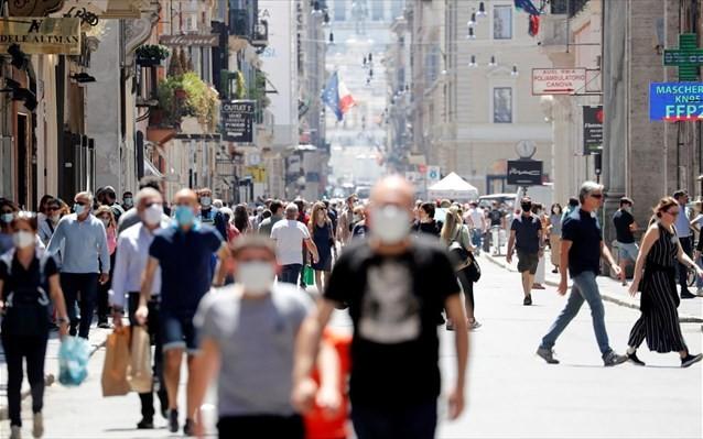 Mέχρι τέλος Ιουλίου η υποχρεωτική χρήση μάσκας στην Ιταλία