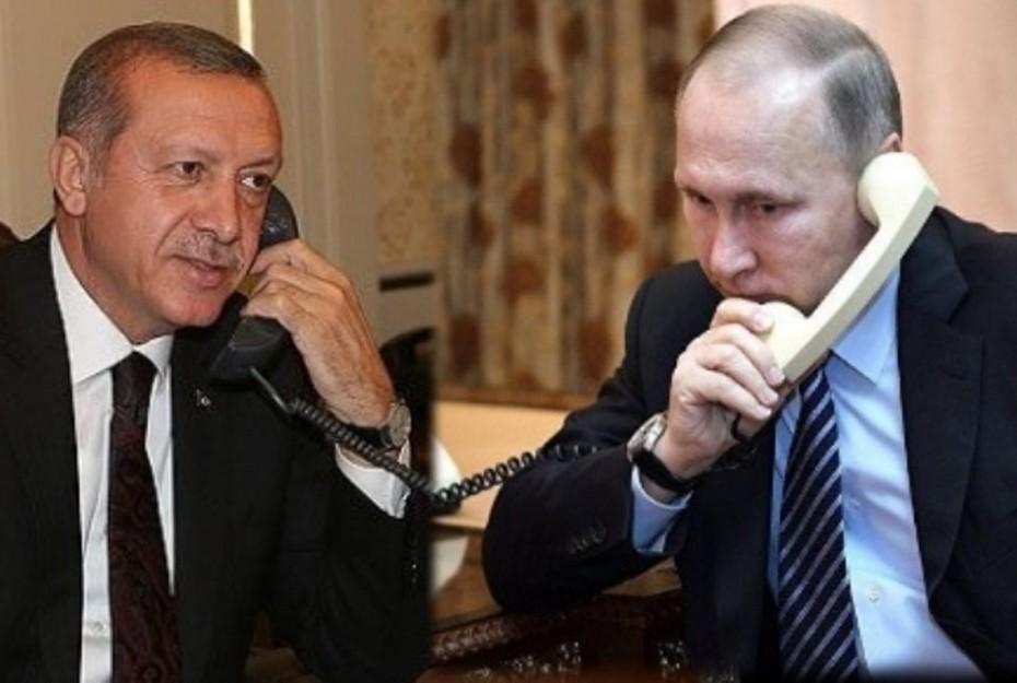 Ελληνοτουρκικά και Λιβύη ψηλά στην τηλεφωνική επικοινωνία Πούτιν-Ερντογάν