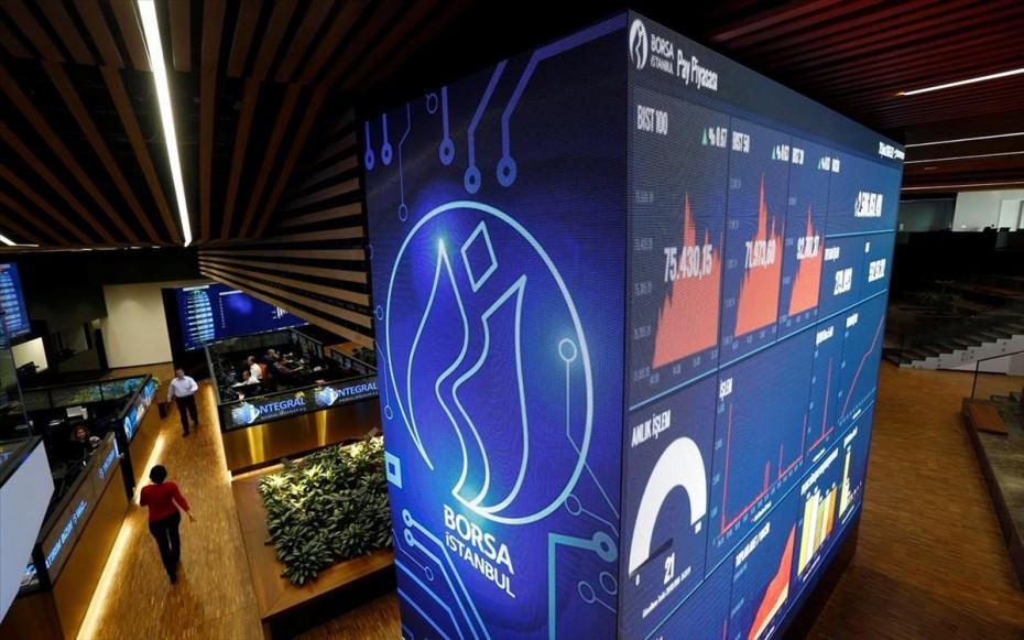 «Τριγμοί» στο χρηματιστήριο της Κωνσταντινούπολης λόγω λίρας