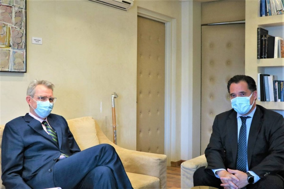 Γεωργιάδης - Πάιατ: Συζήτηση για αμερικανικές επενδύσεις στην Ελλάδα