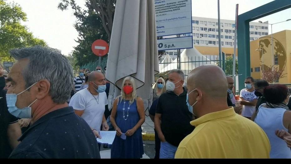 Θεσσαλονίκη: Συγκέντρωση διαμαρτυρίας υγειονομικών κατά του υποχρεωτικού εμβολιασμού