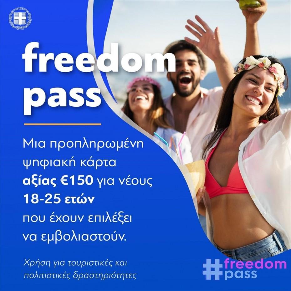 Κ.Μητσοτάκης: «120.000 νέοι 18-25 έχουν κάνει την αίτησή τους για το FreedomPass»