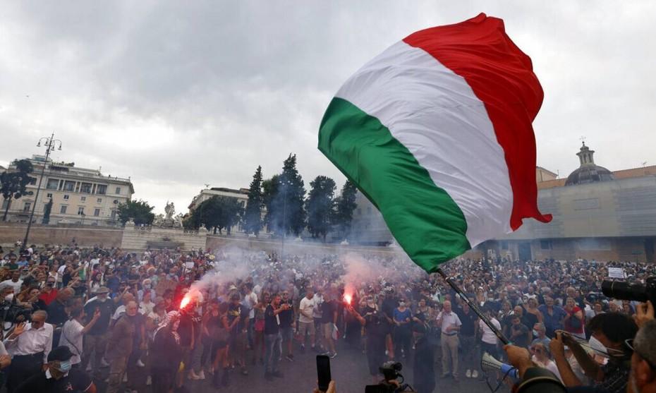 Ιταλία: Ένταση στην Ρώμη μετά την ολοκλήρωση κινητοποίησης αντιεμβολιαστών