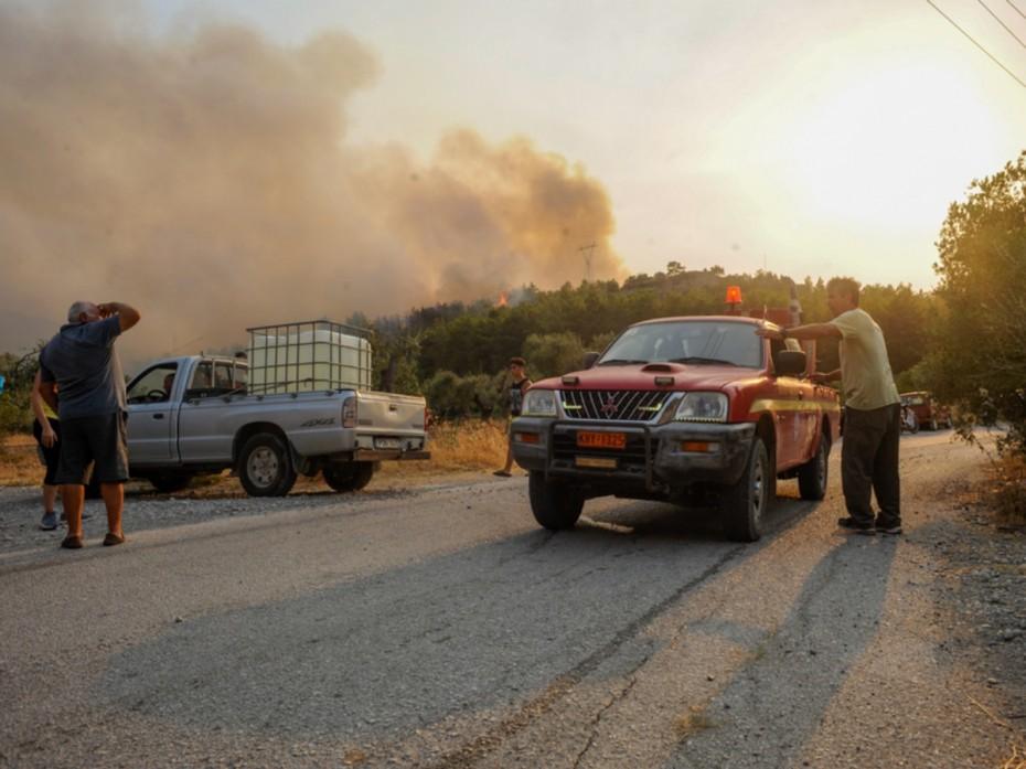 Σε λειτουργία η υπηρεσία Copernicus/Emergency Management Service για τη φωτιά στη Ρόδο