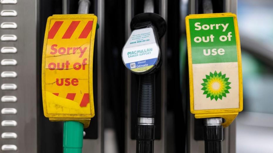 BP: Εξαντλημένα τα καύσιμα στο 1/3 των πρατηρίων της Βρετανίας