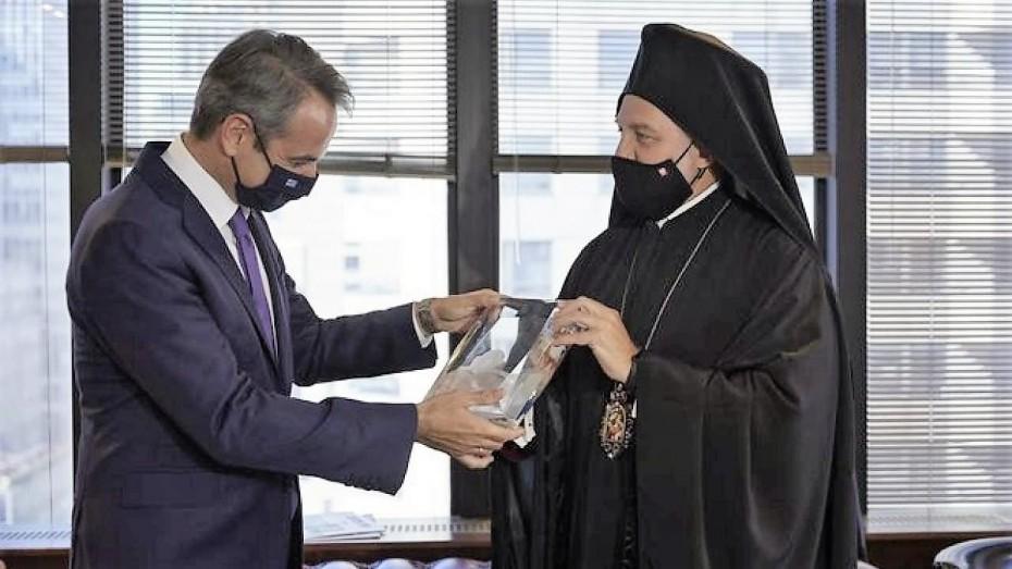 Κ. Μητσοτάκης - Ελπιδοφόρος: Συνάντηση σε «ήρεμα νερά» μετά την απολογία του Αρχιεπισκόπου Αμερικής