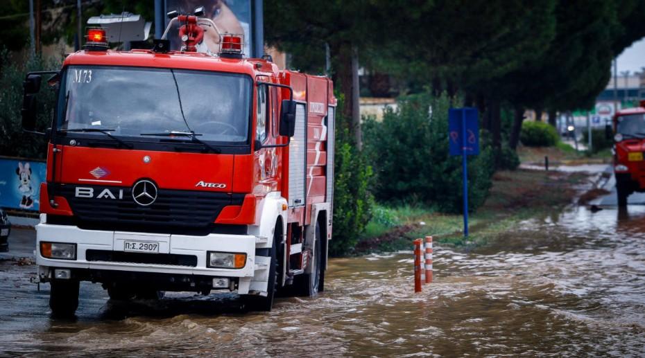 Σε 1.164 ανέρχονται οι κλήσεις που έχει δεχτεί η πυροσβεστική λόγω της κακοκαιρίας